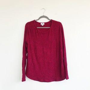 Old Navy XL Gray Top Fleece Sweater Long Sleeve